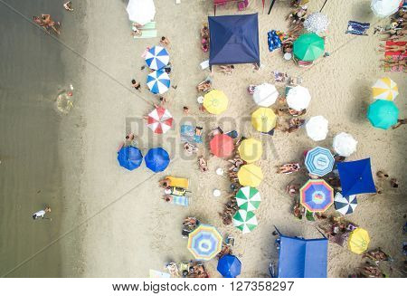 Top View of a Beach in Brazil
