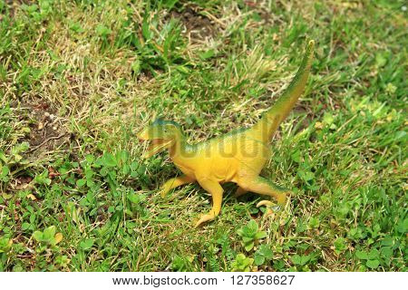 dinosaur in the grass