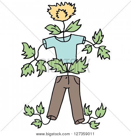 An image of a kid growing like a weed.