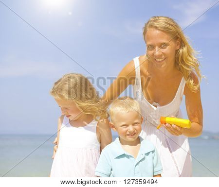Sun protection on the Beach.