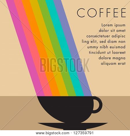 This coffee tastes so good, it has its own rainbow.