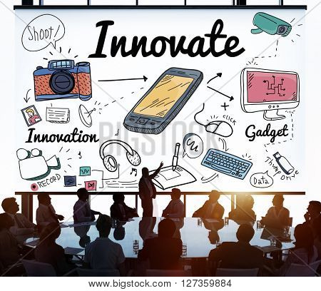 Innovate Innovation Invention Development Vision Concept