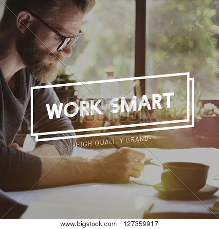 Work Smart Management Productive Effective Time Concept