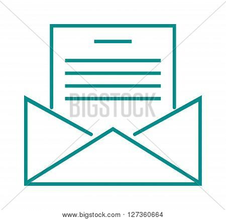 Letter mail icon message business send address sign vector outline illustration. Letter mail icon sign and line art letter mail icon. Letter mail icon communication correspondence symbol.