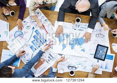 Business Team Meeting Brainstorming Strategy Concept
