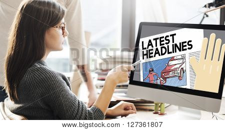 Latest Headlines Breaking Communication Important Concept