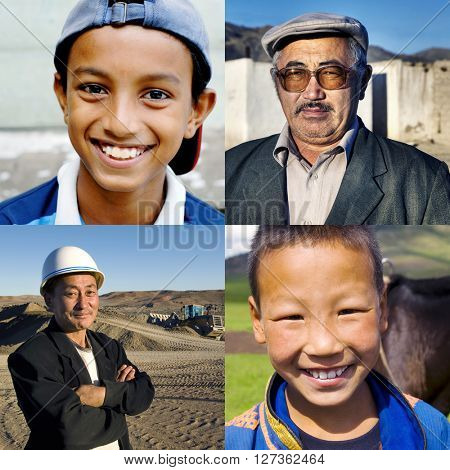 Mixed Race Ethnicity Descent Concept