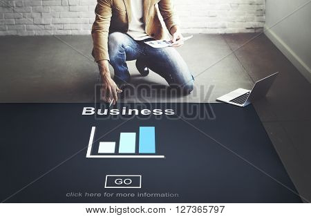 Business Organization Bar Chart Statistics Concept