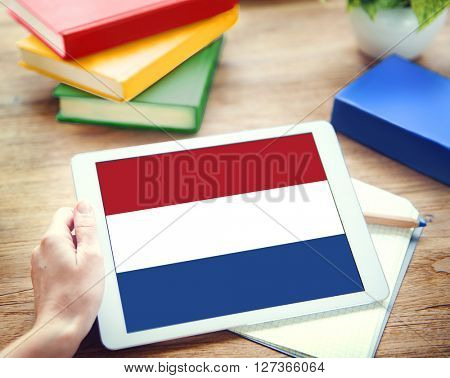 Netherlands Country Flag Liberty National Concept