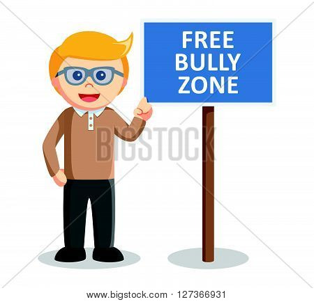 Free bully zone  .eps 10 vector illustration flat design