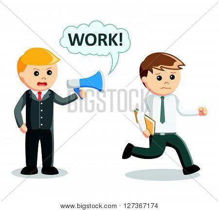 Boss order to work  .eps 10 vector illustration flat design
