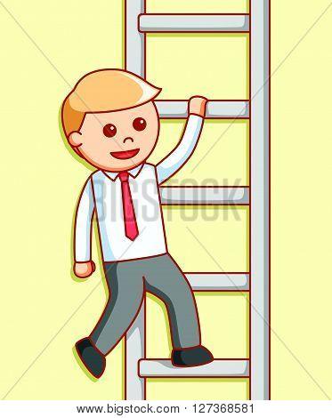 Business man climbing illustration design  .eps 10 vector illustration flat design