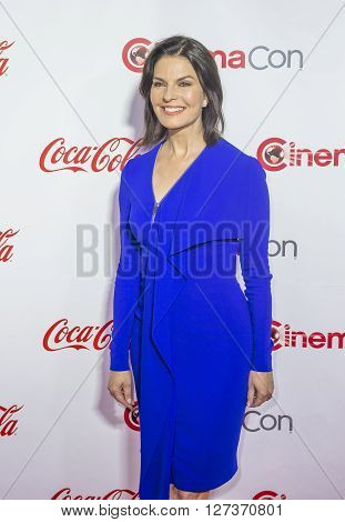 LAS VEGAS - APRIL 14 : Actress Sela Ward one of the recipients of the Ensemble of the Universe Award attends the CinemaCon Big Screen Achievement Awards at The Caesars Palace on April 14 2016 in Las Vegas
