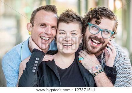 Gender Fluid Young People Having Fun