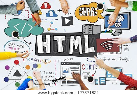 HTML Internet Computer Coding Website Network Concept