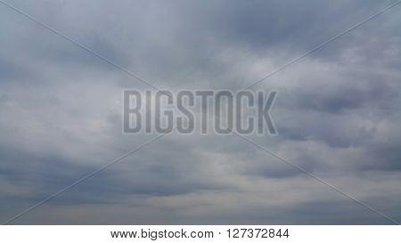 Dark cloudy sky in rainy season of Thailand