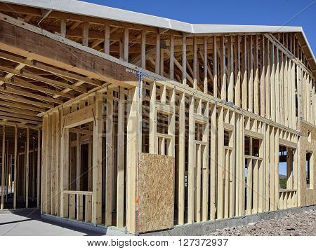 New Housing Wood Frame Carpentry Construction Industry