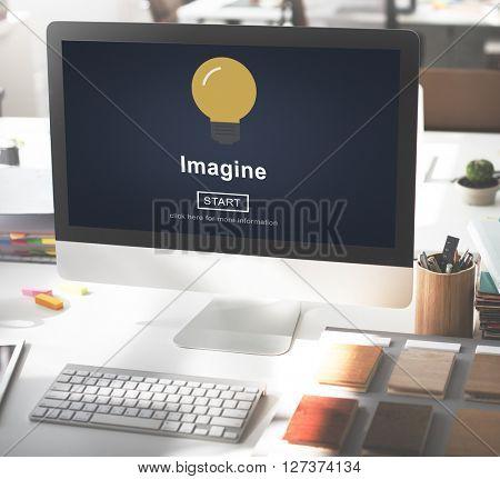 Imagine Creativity Inspiration New Light Concept