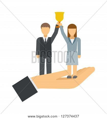 Successful team business leaders corporate professional teamwork concept vector illustration. Successful executives business leaders. Business leaders executive concept symbol, successful team.