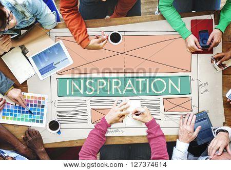 Inspiration Aspiration Creative Imagination Dream Concept