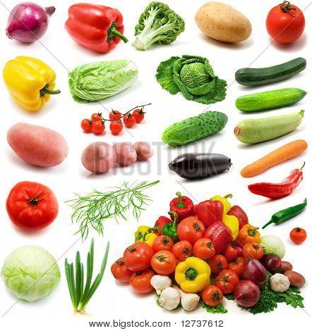 gran página de verduras aislado sobre fondo blanco