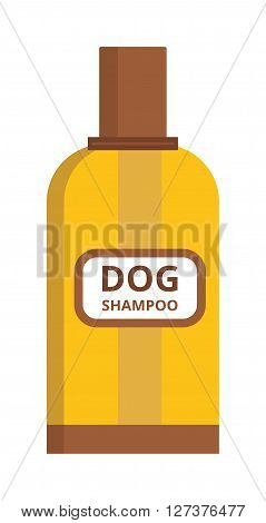 Pet dog shampoo flat icon grooming health bathtub hygiene vector. Dog shampoo grooming health tub and bathtub dog shampoo shower. Dog shampoo grooming, shampoo bubble hygiene wash tub.