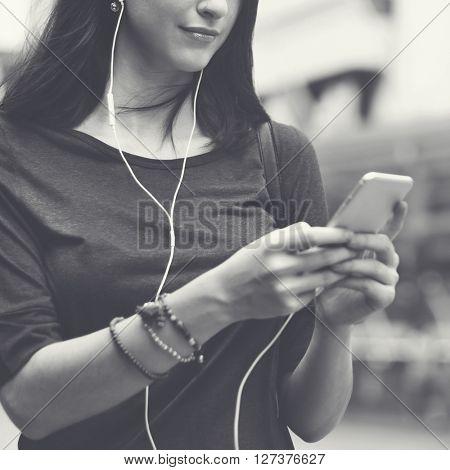 Casual Ausio Leisure Internet Media Technology Concept