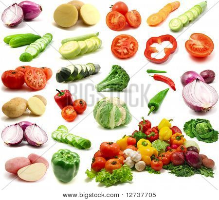 large page of vegetables