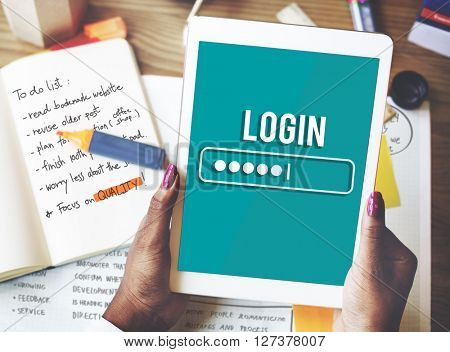 Log In Interface Password Security Concept