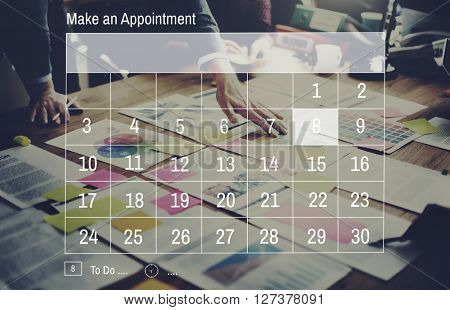 Calendar Appointment Day Event Meeting Memo Concept