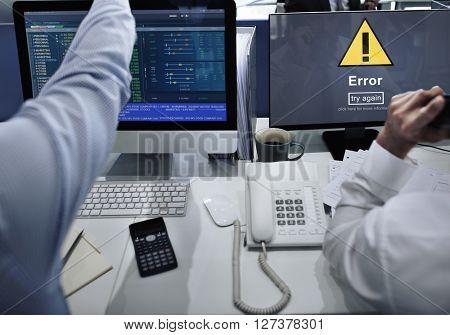Error Mistake Online Reminder Beware Alert Concept