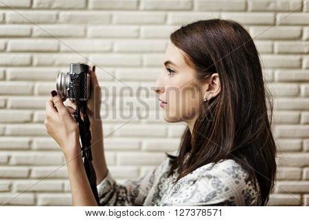 Photographer Camera Casual Leisure Trendy Trip Concept