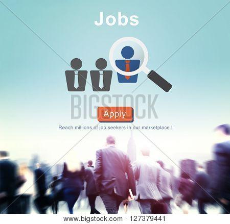 Jobs Recruitment Employment Human Resources Website Online Concept