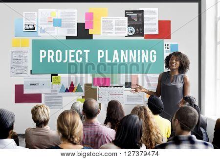 Project Planning Estimate Forecast Predict Task Concept