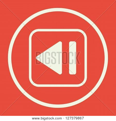 Music Backward Icon In Vector Format. Premium Quality Music Backward. Web Graphic Music Backward Sig