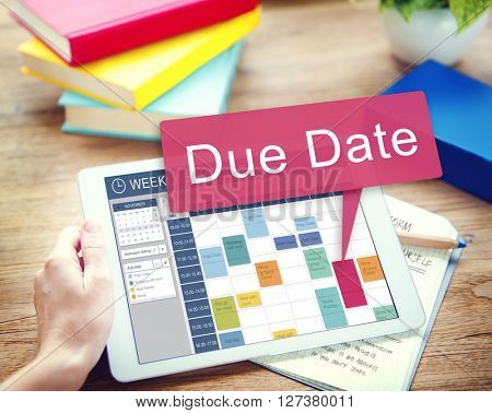 Due Date Deadline Appointment Event Concept