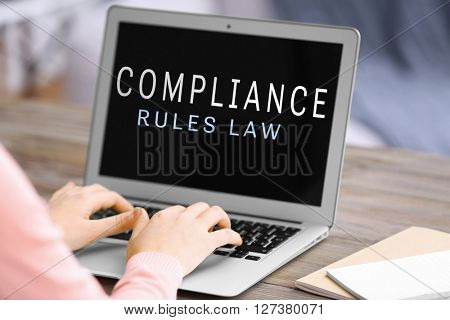 Compliance rules law concept