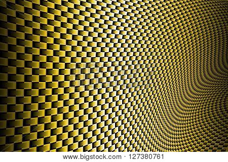 gold curve carbon fiber on the black shadow. background and texture.