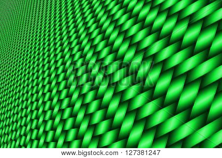 green curve carbon fiber on the black shadow. car accessories. background and texture.