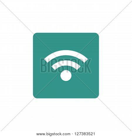 Wifi Icon In Vector Format. Premium Quality Wifi Symbol. Web Graphic Wifi Sign On Green Background.