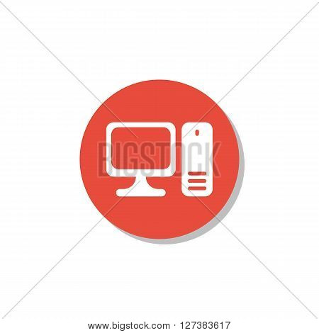 Settings Icon In Vector Format. Premium Quality Settings Symbol. Web Graphic Settings Sign On Red Ci