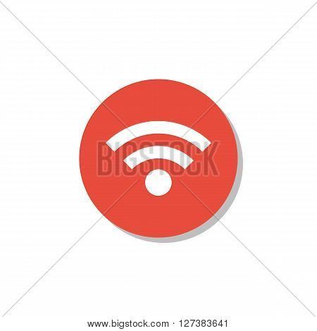 Wifi Icon In Vector Format. Premium Quality Wifi Symbol. Web Graphic Wifi Sign On Red Circle Backgro
