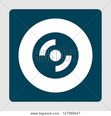 Cd-rom Icon In Vector Format. Premium Quality Cd-rom Symbol. Web Graphic Cd-rom Sign On Blue Backgro