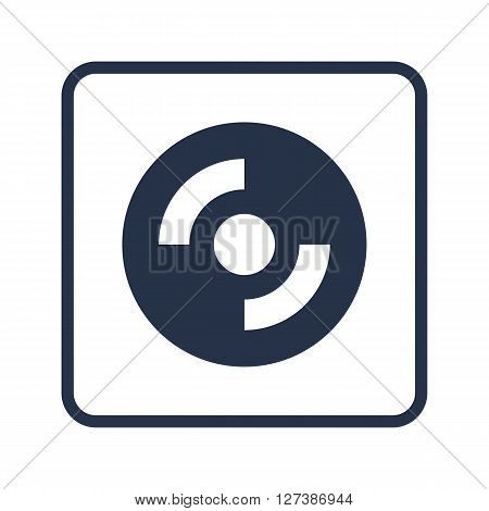 Cd-rom Icon In Vector Format. Premium Quality Cd-rom Symbol. Web Graphic Cd-rom Sign On Blue Round B