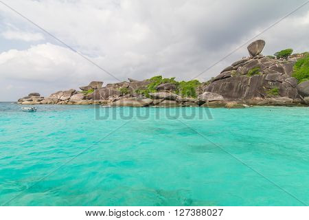 Beautiful Similan islands in the Andaman ocean