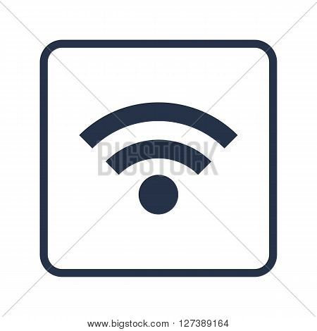 Wifi Icon In Vector Format. Premium Quality Wifi Symbol. Web Graphic Wifi Sign On Blue Round Backgro