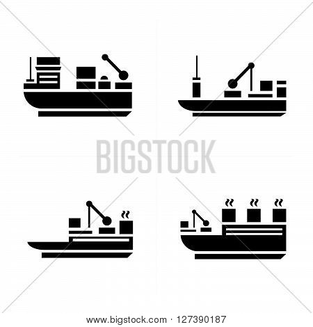 transport boat Icons support vector design eps 10.