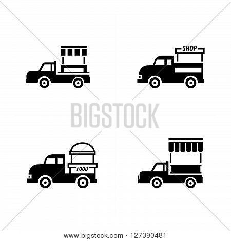 Design Mobile food car icons support vector design eps 10.