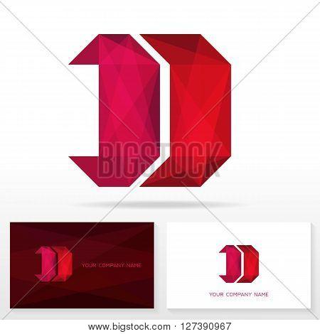 Letter D logo icon design template. Business card templates. Vector illustration.