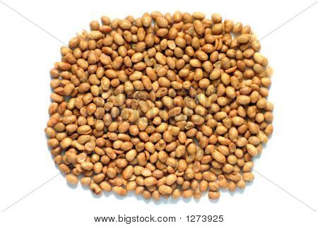 Soya Nuts Isolated On A White Background